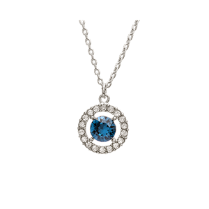 Halsband - Miss Miranda necklace - Silver blue