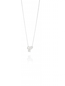 Halsband - Mini Pearls Bow necklace