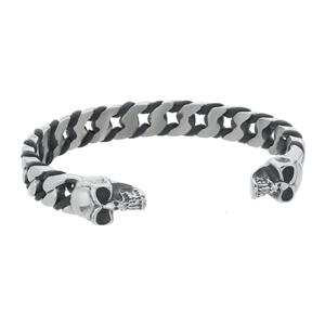 Armband - Armring i stål med döskallar