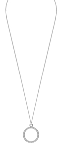 Halsband - Bridget ring pendant neck 42 plain s