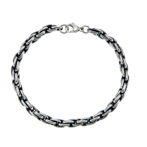 Armband - Mörkborstad stålarmband