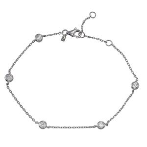 Armband - Armband silver, Runda Cubic Zirkonia stenar