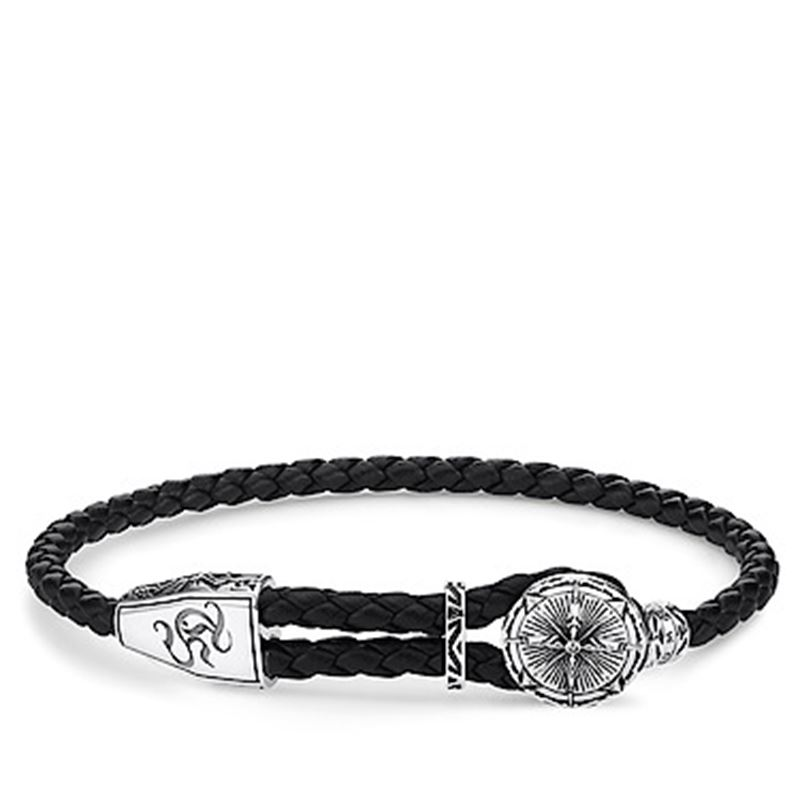 Armband - REBEL AT HEART - LEATHER STRAP COMPASS