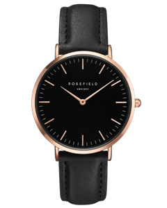 Klocka - The Bowery Black Black Rose Gold