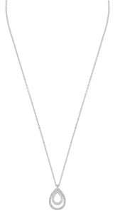 Halsband - Ciel pendant neck 50 s/clear