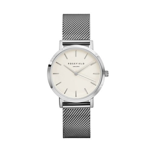 Klocka - The Tribeca White Silver