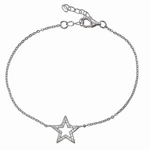 Armband - Armband silver, Stjärna med Cubic Zirkonia stenar