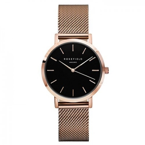 Klocka - The Tribeca Black Rose Gold