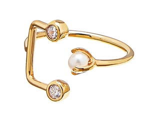 Ring - Pearl/brilliant Ring