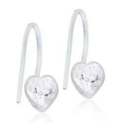 Örhänge - Pendant Fixed Heart 6 mm