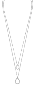 Halsband - Ciel double pendant neck 42 s/clear