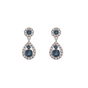 Örhängen - Petite Sofia earrings - Silver Blue