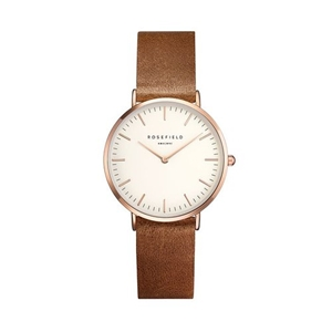 Klocka - The Tribeca White Brown Rose Gold