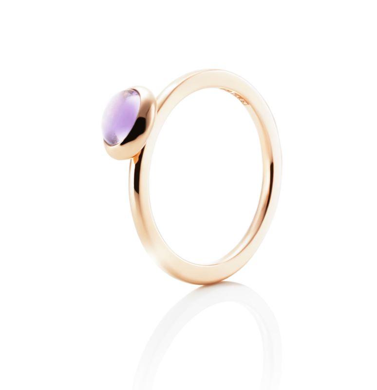 Ring - Love bead ring - amethyst