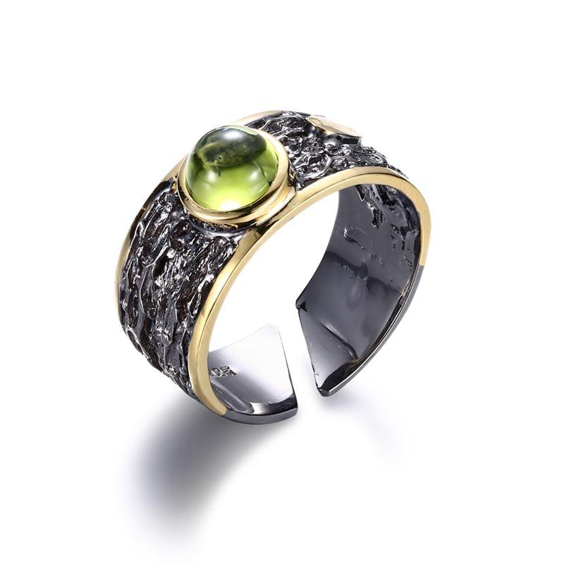 Ring - Designers Favorites Ring - Rodium och Peridot
