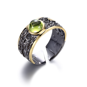 Ring - Designers Favorites Ring - Rodium och Peridot
