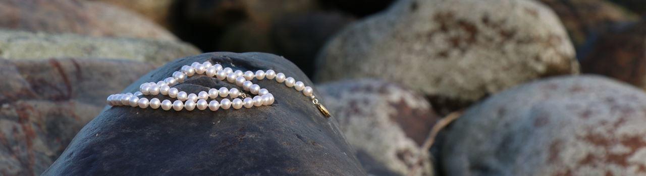 Bild på pärlhalsband